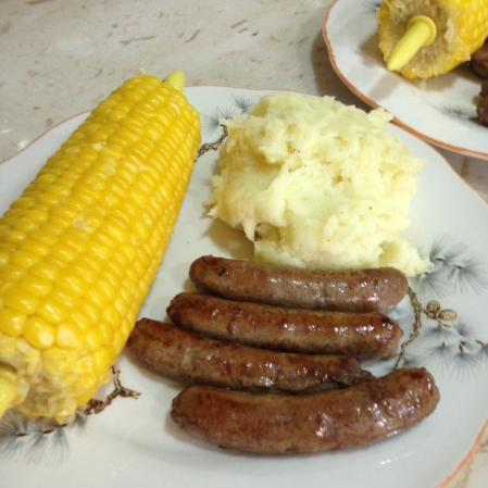 sausages and mash